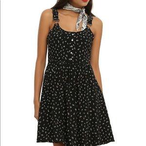 Music note suspender dress